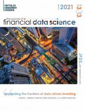 The Journal of Financial Data Science: 3 (3)